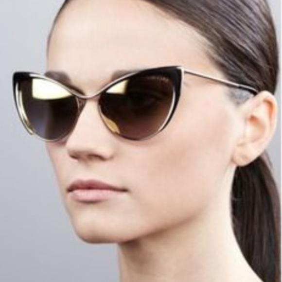 daef32a81b24 Tom Ford Nastasya Metal Cat-Eye Sunglasses gold. M_5bb159e2d6dc528b27c8bfb4